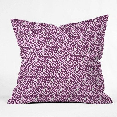 "16""x16"" Sunshine Canteen Dahlia Floral Pattern Throw Pillow Purple - society6"
