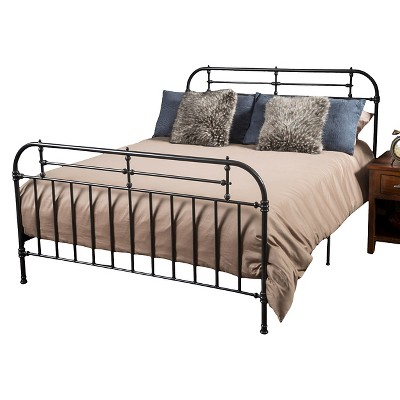Christopher Knight Home Nathan Queen Sized Metal Bed - Charcoal