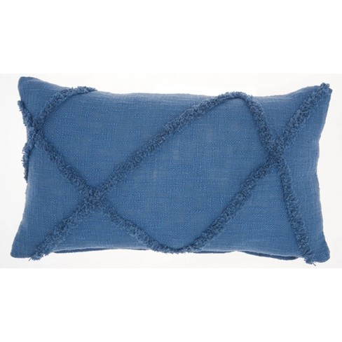 Distressed Diamond Throw Pillow - Mina Victory - image 1 of 4