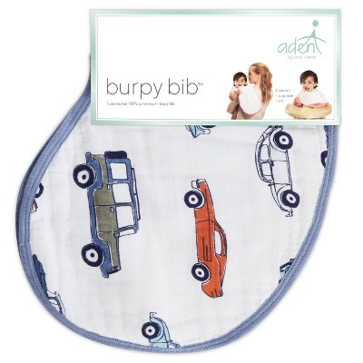 aden by aden + anais Car Pattern Bib - Blue