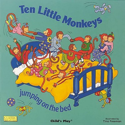 Ten Little Monkeys Jumping on the Bed - (Classic Books with Holes Board Book)(Board Book)
