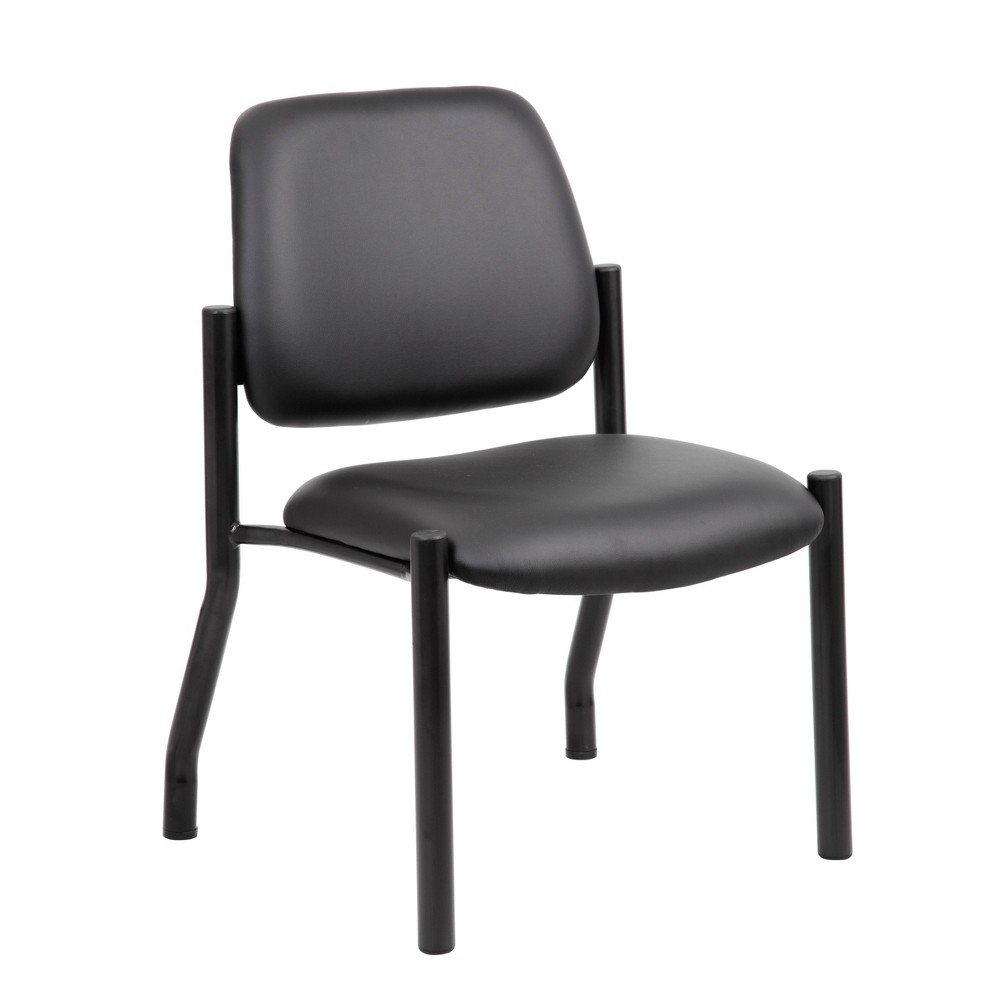 Image of 300lbs Weight Capacity Guest Chair Antimicrobial Black - Boss Office Products