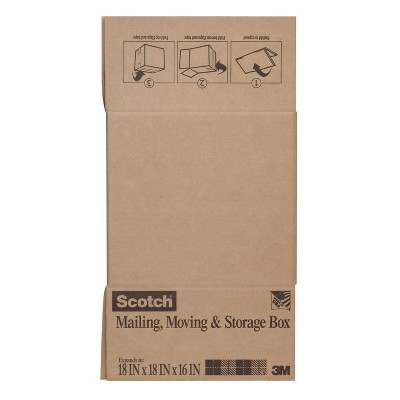 "Scotch 18"" x 18"" x 16"" Mailing, Moving & Storage Box"