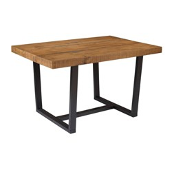 "52"" Distressed Solid Wood Dining Table - Saracina Home"