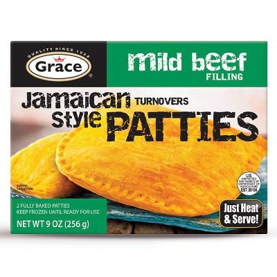 Grace Frozen Jamaican Style Patties with Mild Beef Filling - 9oz