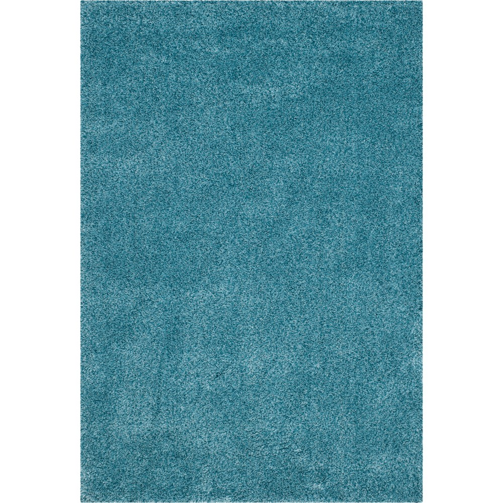 8'6X12' Solid Loomed Area Rug Light Gray - Safavieh, Turquoise