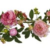 Mixed Peony and Berry Silk Garland - Berry (60'') - image 2 of 3