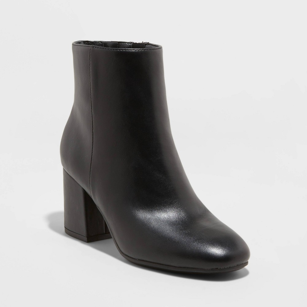 Vintage Boots, Retro Boots Womens Celeste Mid Shaft Fashion Boots - A New Day Black 11 $39.99 AT vintagedancer.com