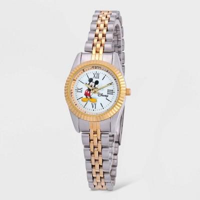 Women's Disney Mickey Mouse Stainless Steel Bracelet Watch