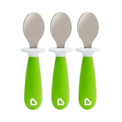 Munchkin 3pk Raise Toddler Spoons Green