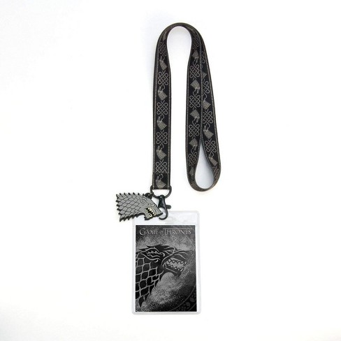Crowded Coop, LLC Game of Thrones House Stark Lanyard w/ PVC Charm - image 1 of 2