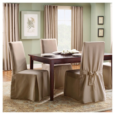 Sailcloth Long Dining Room Chair Natural Sure Fit Target