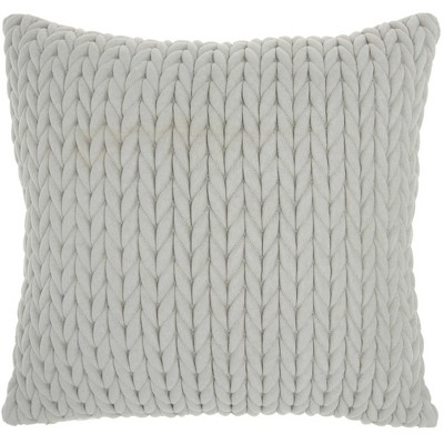 Life Styles Quilted Chevron Throw Pillow Light Gray - Nourison