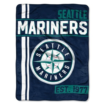 MLB Seattle Mariners Micro Fleece Throw Blanket