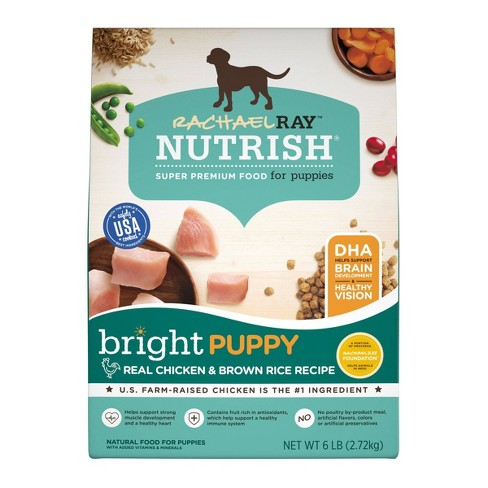 Rachael Ray Nutrish Real Chicken & Brown Rice Recipe Bright Puppy Super Premium Dry Dog Food - image 1 of 4