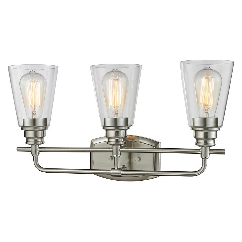 Vanity Wall Lights with Clear Glass (Set of 3) - Z-Lite - image 1 of 1