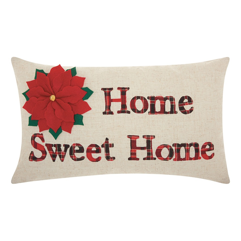 Image of Neutral Letters Throw Pillow - Mina Victory