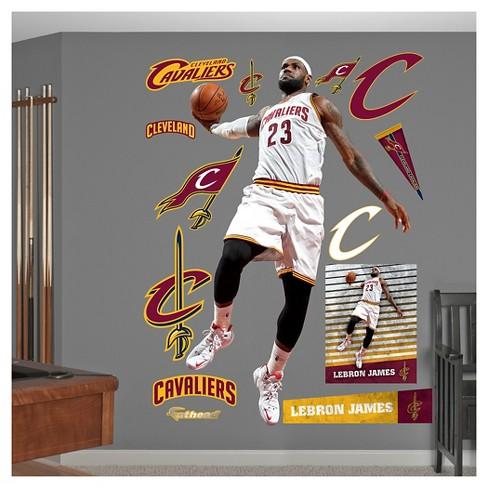 1121054a097b NBA® Cleveland Cavaliers Lebron James Fathead Wall Decal Set   Target