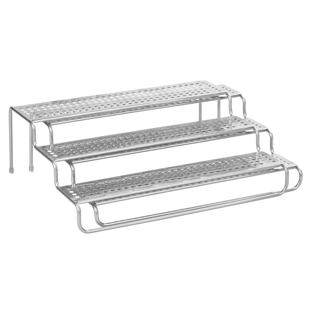 InterDesign Expandable Kitchen Drawer Organizer Stainless Steel, Silver