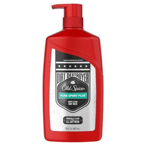 Old Spice Dirt Destroyer Pure Sport Plus Body Wash Pump - 30oz - image 1 of 2
