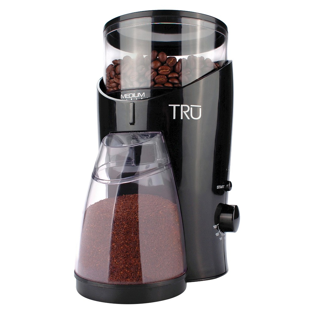 Tru Burr Coffee Grinder, Black