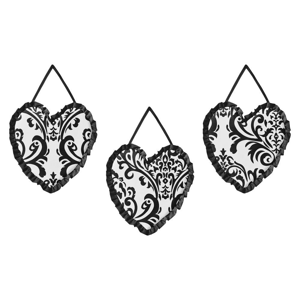 Sweet Jojo Designs Isabella Wall Hangings - Black/White