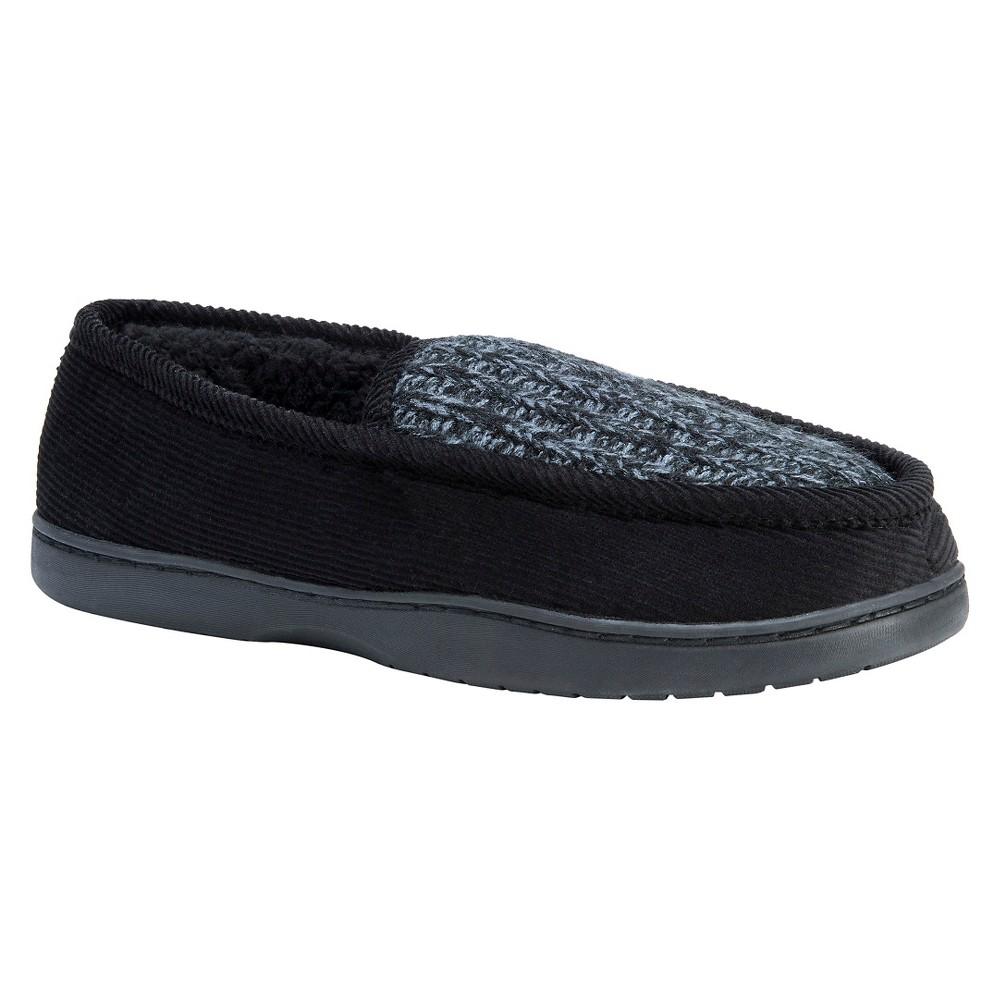 Men's Muk Luks Henry Loafer Slippers - Black S(8-9), Size: S (8-9)