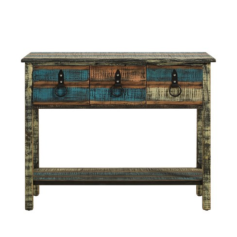 Marley Console Table Distressed Powell Company