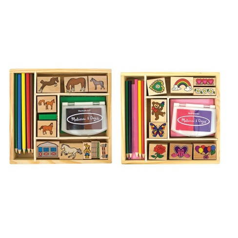 Melissa & Doug® Wooden Stamp Sets (2): Friendship and Horses - image 1 of 3