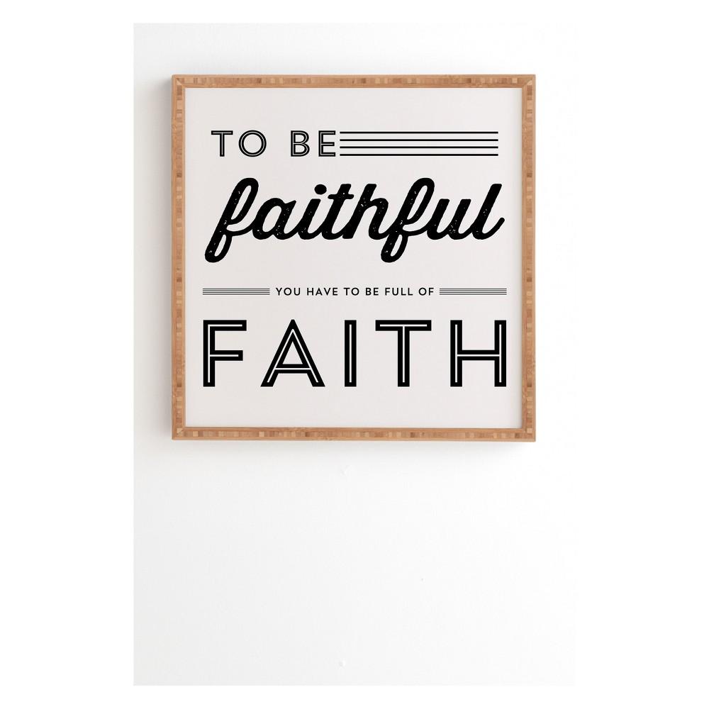 """Image of """"12""""""""x12"""""""" Allyson Johnson Full Of Faith Framed Wall Art Poster Print White - Deny Designs"""""""