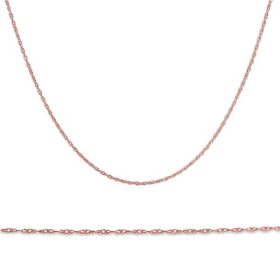 """Pompeii3 Solid 14k Rose Gold 18"""" Chain With Spring Ring"""