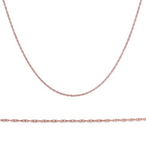 """Pompeii3 Solid 14k Rose Gold 18"""" Chain With Spring Ring - image 1 of 4"""