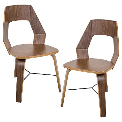 Attirant Trilogy Mid Century Modern Chairs   Walnut (Set Of 2)   LumiSource