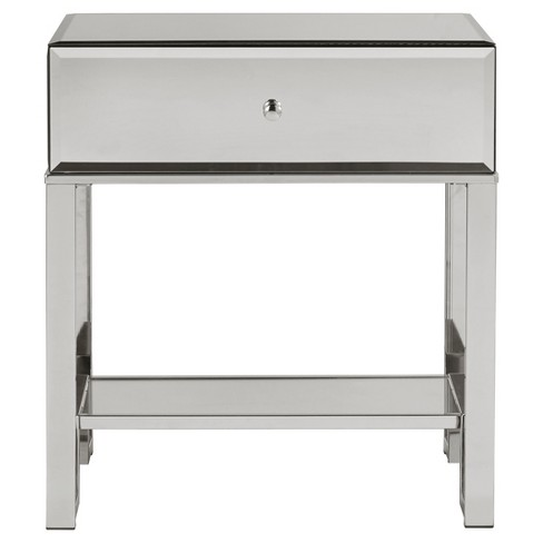 hot sale online 1e03f eaf89 Caminita Glam Mirrored Accent Table - Chrome - Inspire Q