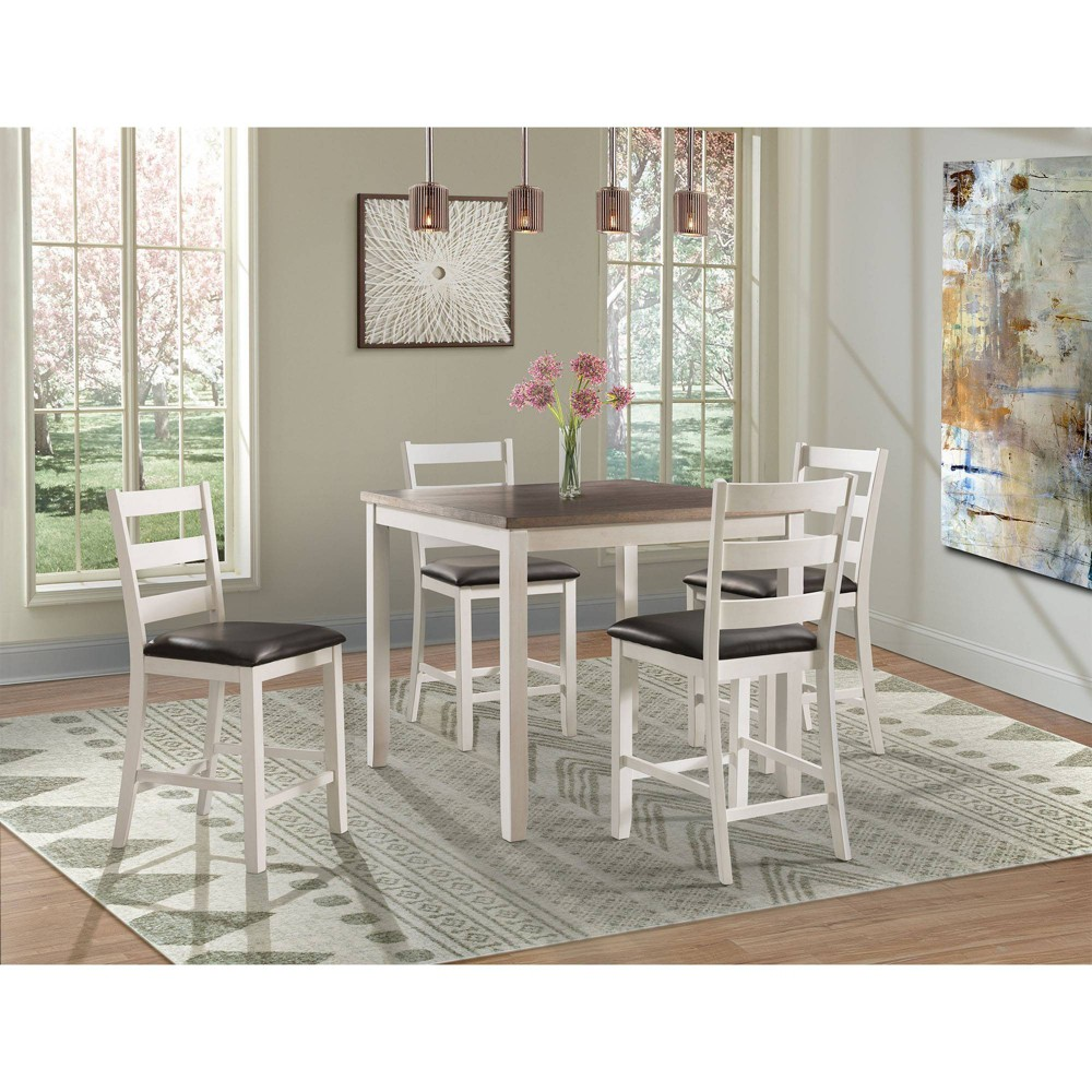 5pc Kona Counter Height Dining Set Brown - Picket House Furnishings