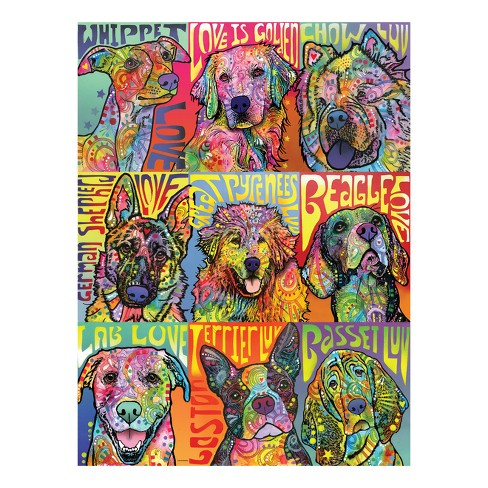 "Cardinal 500pc Foil Puzzle - ""Dogs"" - image 1 of 2"