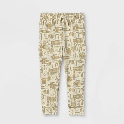 Toddler Boys' Robot Print Jersey Knit Jogger Pull-On Pants - Cat & Jack™ White
