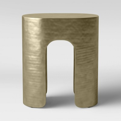 Linberg Hammered Brass Pill Accent Table - Project 62™