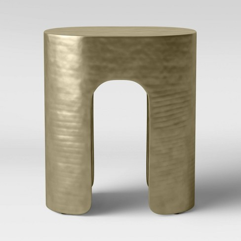 Linberg Hammered Brass Pill Accent Table - Project 62™ - image 1 of 4