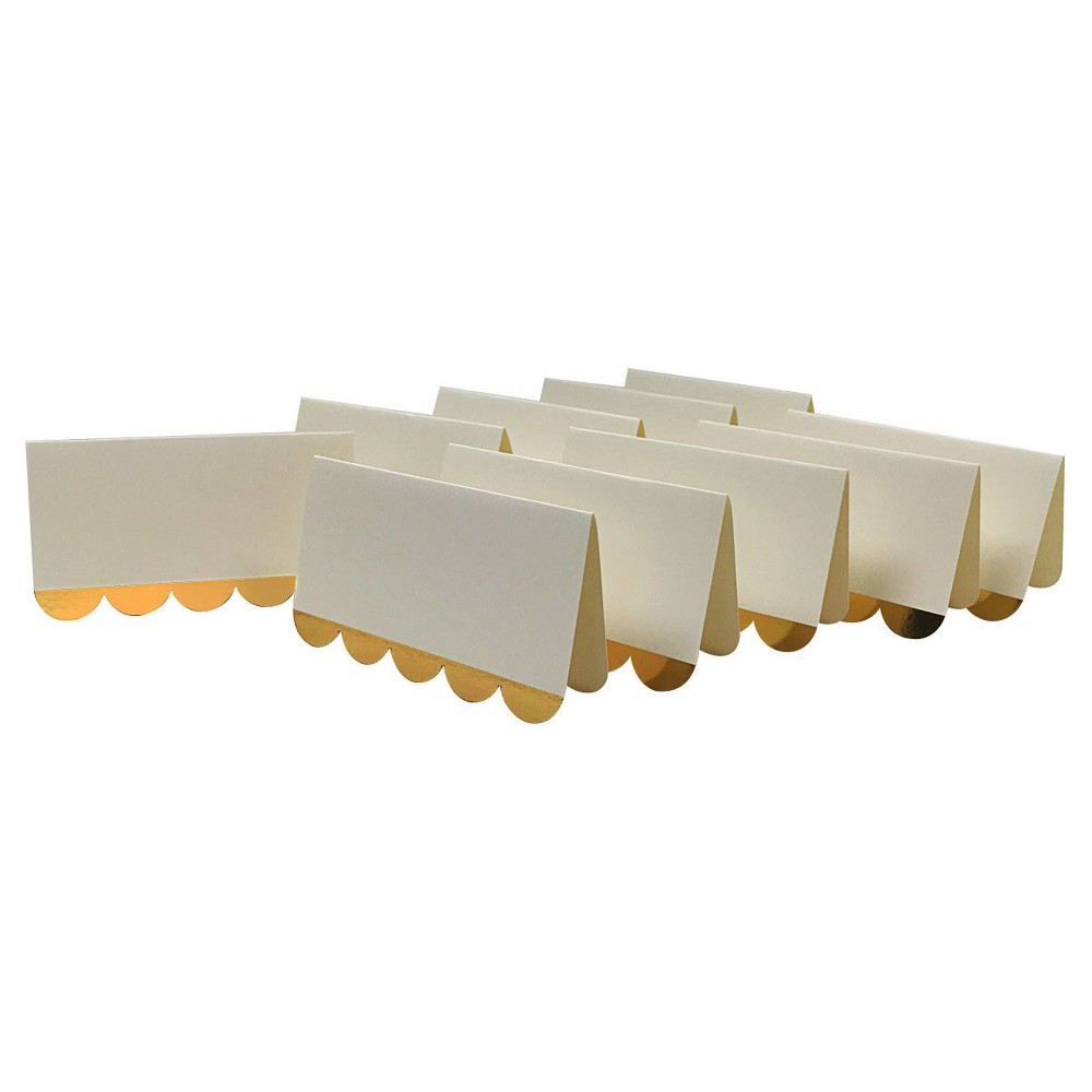 Image of 10ct Placecards White/Gold - Spritz