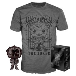 Funko POP! DC Comics Collectors Box: Batman: Arkham Asylum - The Joker POP! & Tee - Gray (NYCC Debut)
