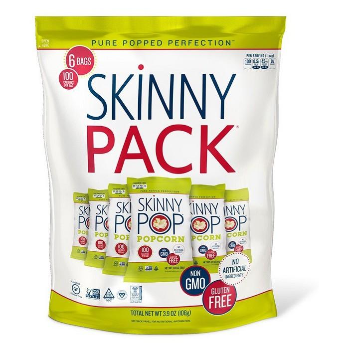 SkinnyPop® Original Popcorn Skinny Pack - 6ct - 3.9oz - image 1 of 2