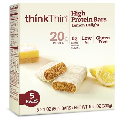 thinkthin High Protein Bar Lemon Delight - 2.1oz/5ct