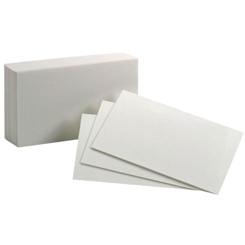Oxford Blank Index Cards, 3 x 5 Inches, White, pk of 100