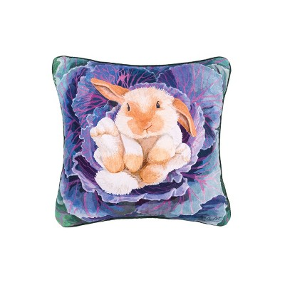 C F Home Bunny In The Cabbage Easter Pillow Target