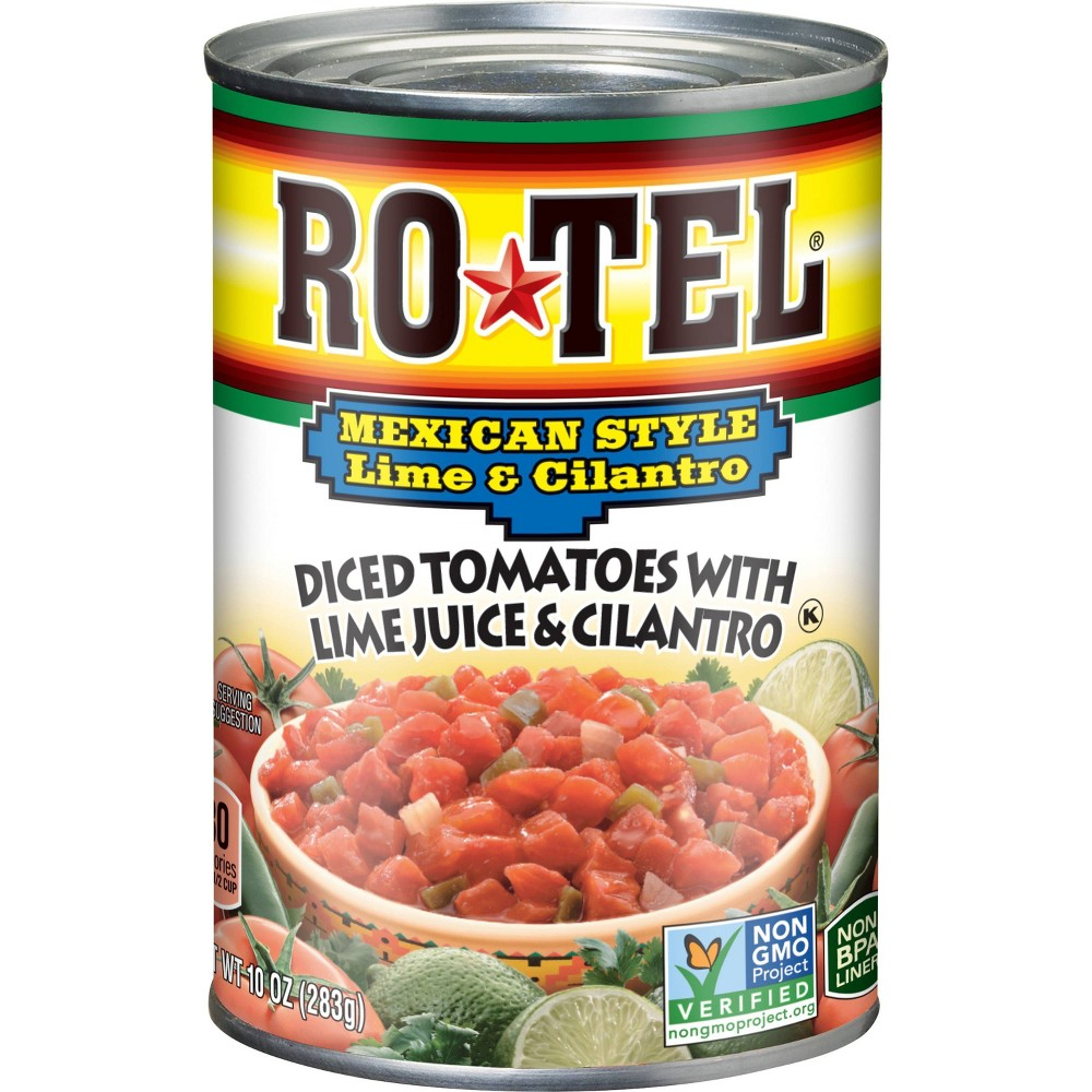Rotel Mexican Festival Diced Tomatoes With Lime Juice Cilantro 10oz