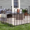 Sunnydaze Outdoor Lawn and Garden Metal Strasbourg Style Decorative Border Fence Panel and Posts Set - 6' - Black - 5pc - image 2 of 4