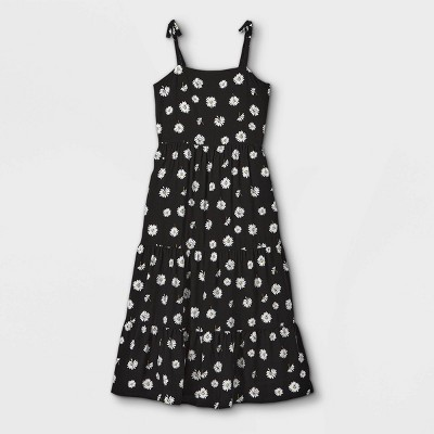 Girls' Shoulder Tie Sleeveless Dress - art class™