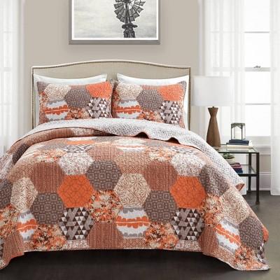 3pc Briley Quilt  Set - Lush Décor