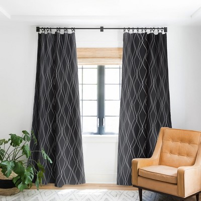 Heather Dutton Fuge Slate Single Panel Blackout Window Curtain - Deny Designs